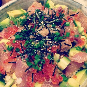 釣魚を使った料理:イナダのちらし寿司つくた!