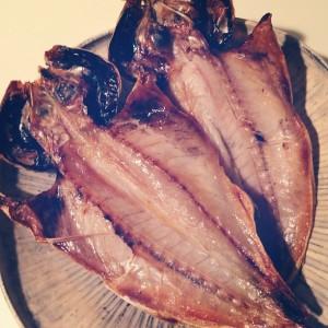 釣魚を使った料理:アジの一夜干し