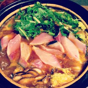 釣魚を使った料理:ブリツ鍋〜薬膳不老長寿鍋〜